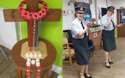 Celebrating Remembrance Day at St Winifreds Care Home