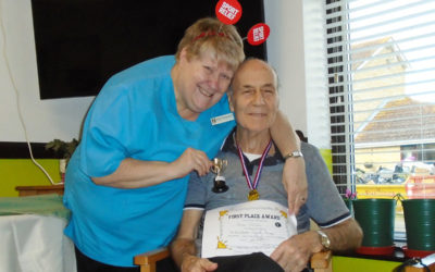 Celebrating Sports Relief at St Winifreds Care Home