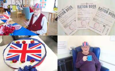 St Winifreds Residential Care Home turns red white and blue for VE Day
