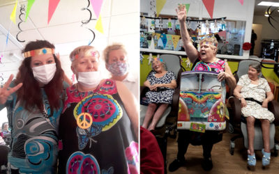 Residents enjoy at 60s Diva Party at St Winifreds Residential Care Home