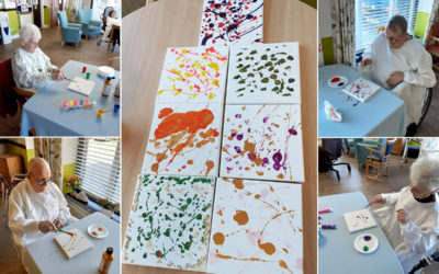 Gingerbread and painting at St Winifreds Care Home