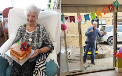 Birthday wishes to Barbara at St Winifreds Care Home