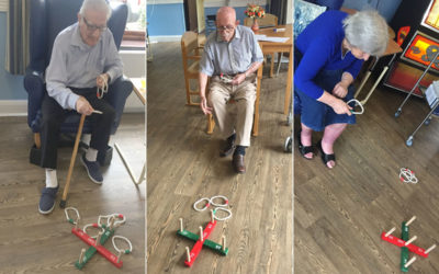 St Winifreds Care Home residents enjoy Bingo and Quoits