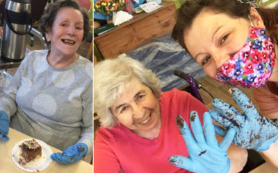 Cake decorating fun at St Winifreds Residential Care Home