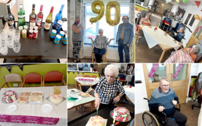 Mollie celebrates her birthday at St Winifreds Care Home