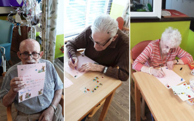 St Winifreds Care Home residents write to their Bright Sparks penpals