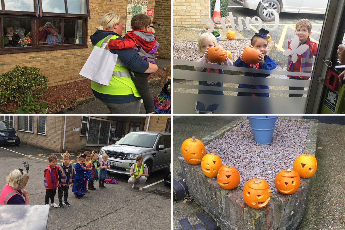 Bright Sparks pumpkin visit to St Winifreds Care Home