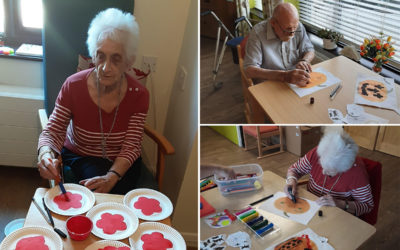 Enjoying arts and crafts at St Winifreds Care Home