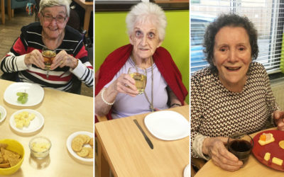 Food tasting and flower arrangements and  at St Winifreds Care Home