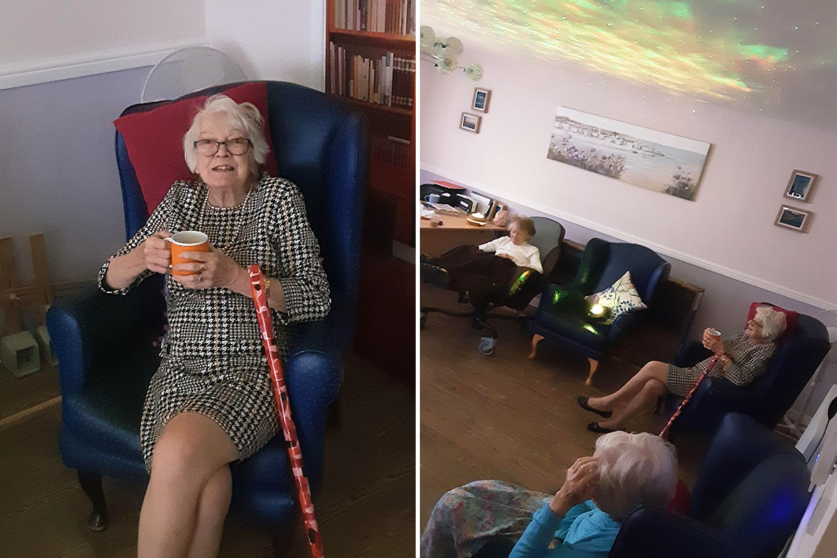 Sensory relaxation at St Winifreds Care Home