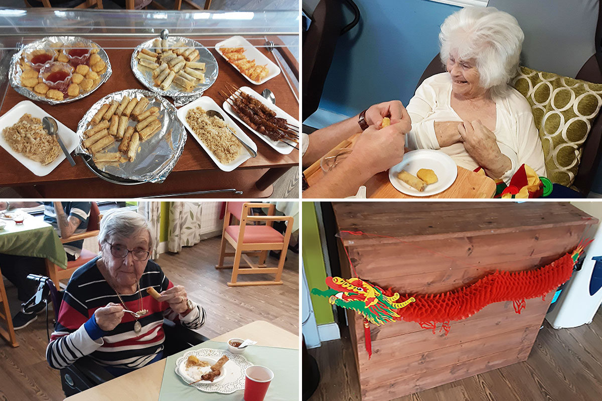 St Winifreds Care Home residents enjoy a taste of China