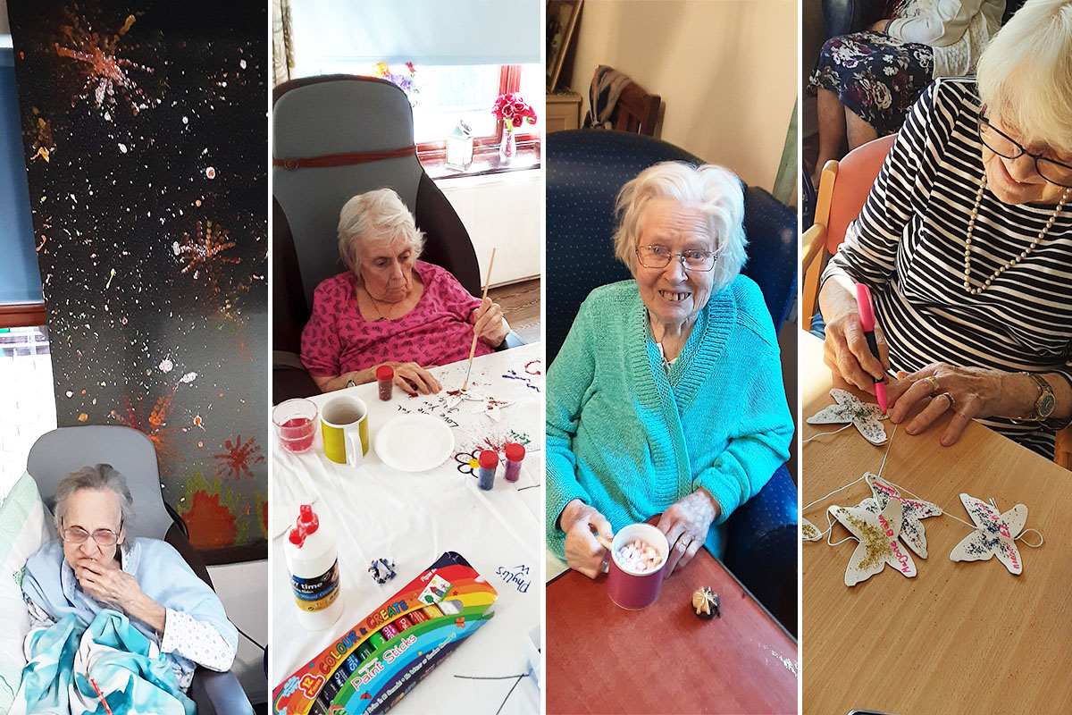 Firework fun and creative crafts at St Winifreds Care Home