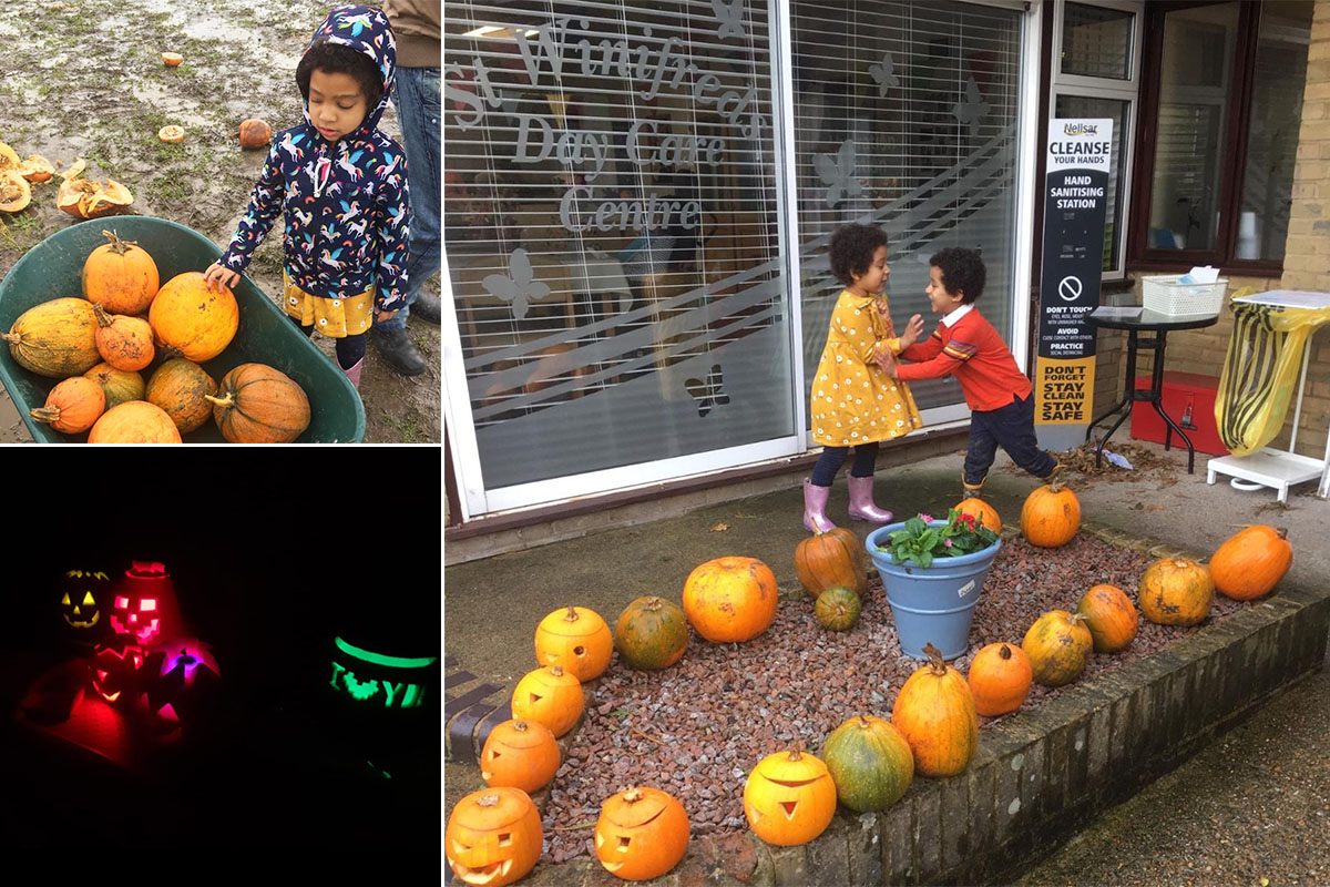 Pumpkin picking for St Winifreds Care Home