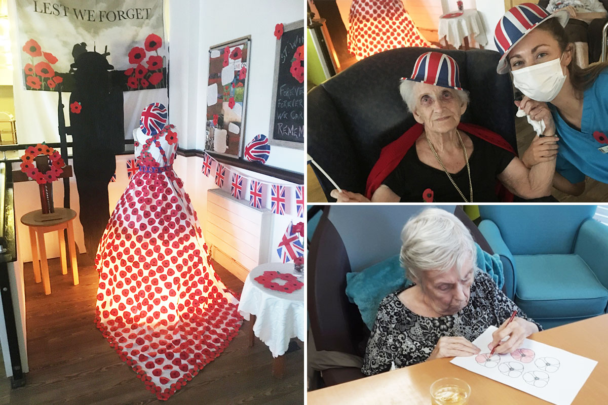 Remembrance tributes and entertainment at St Winifreds Care Home