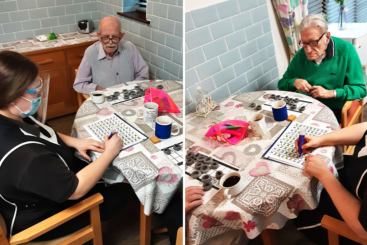 St Winifreds Residential Care Home residents enjoy Bingo and prizes