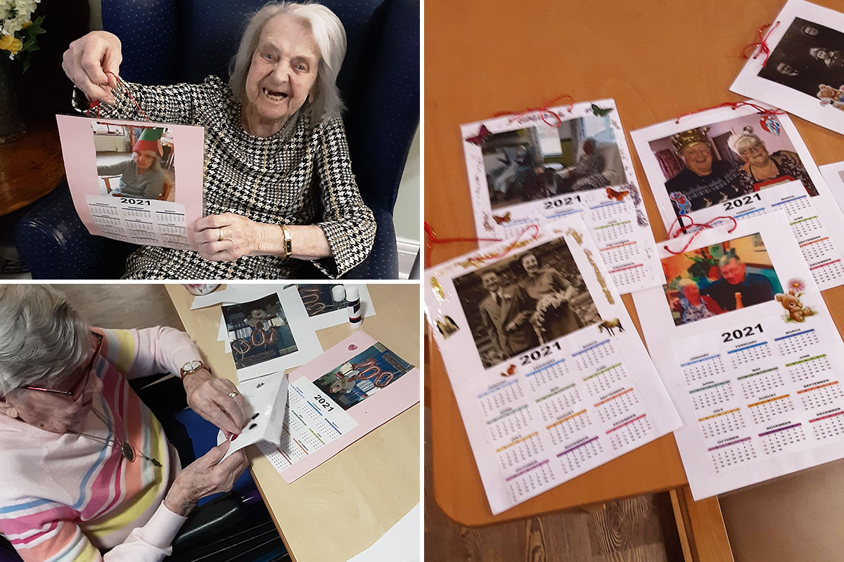 St Winifreds Care Home residents make special 2021 calendars