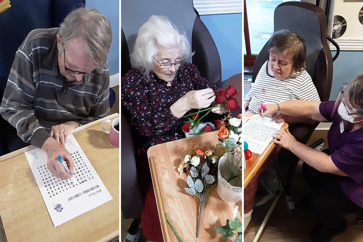 Celebrating International Flower Day at St Winifreds Care Home