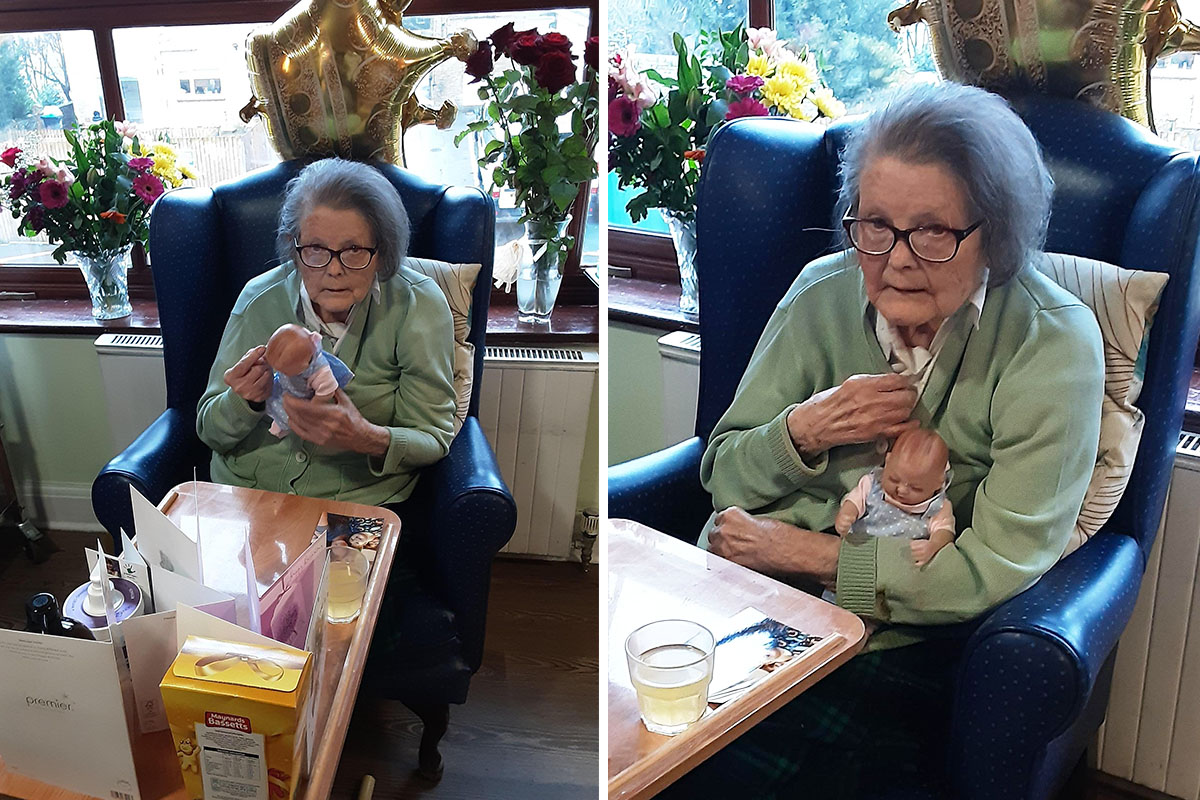 Birthday wishes for Joan at St Winifreds Care Home