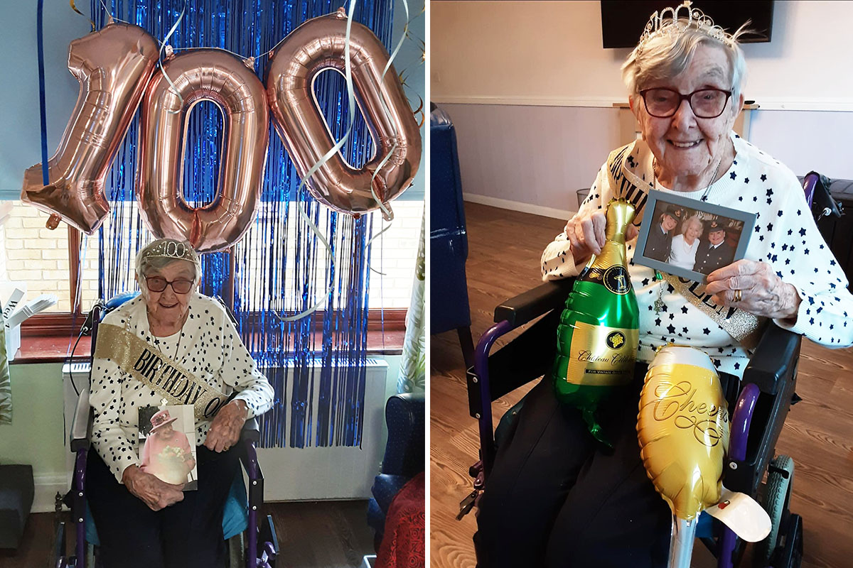 Marjorie celebrates turning 100 at St Winifreds Care Home