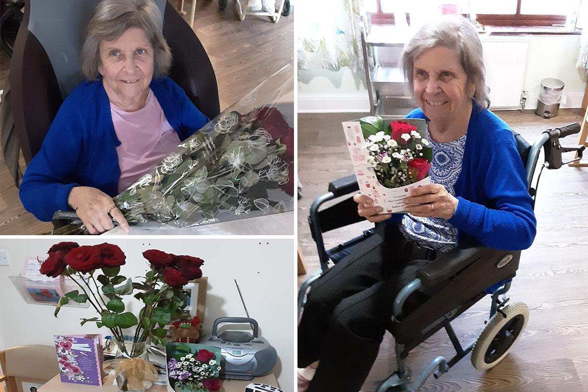 Sylvia enjoys a happy birthday at St Winifreds Care Home