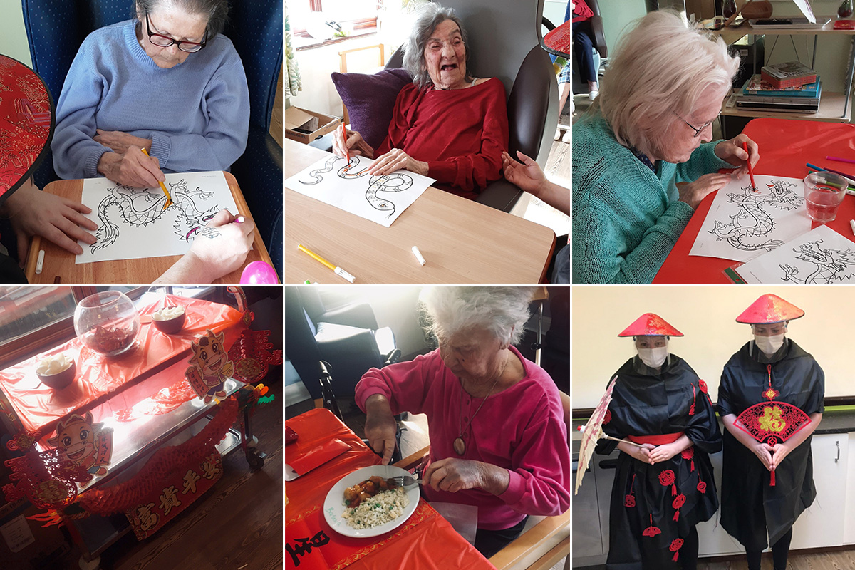 Chinese New Year at St Winifreds Care Home
