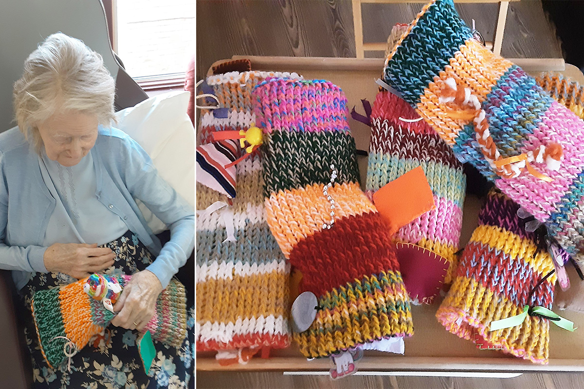 St Winifreds Care Home thanks Patricia for her wonderful fiddle muffs