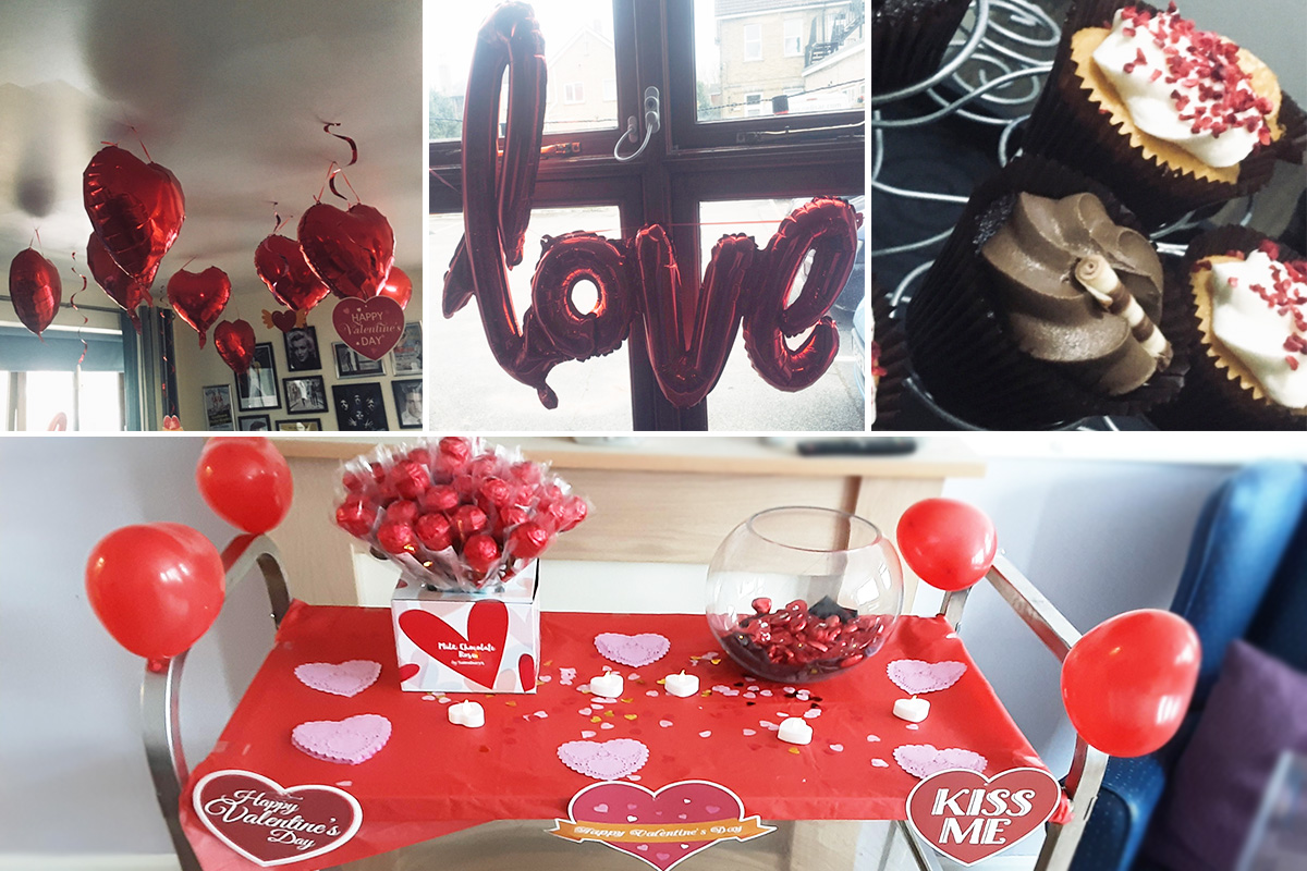 St Winifreds Care Home residents celebrate Valentines Day