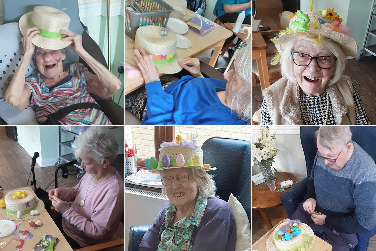 Easter bonnet competition at St Winifreds Care Home