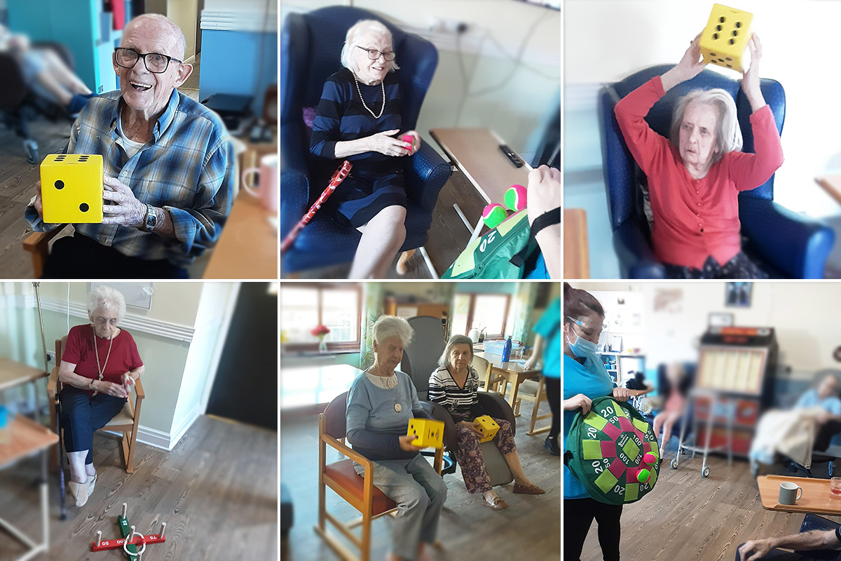 Sensory exploration and fun games at St Winifreds Care Home
