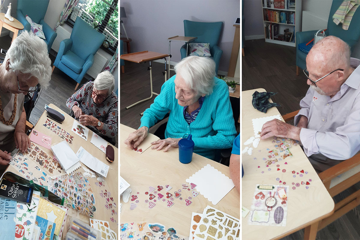 Creative cards at St Winifreds Care Home