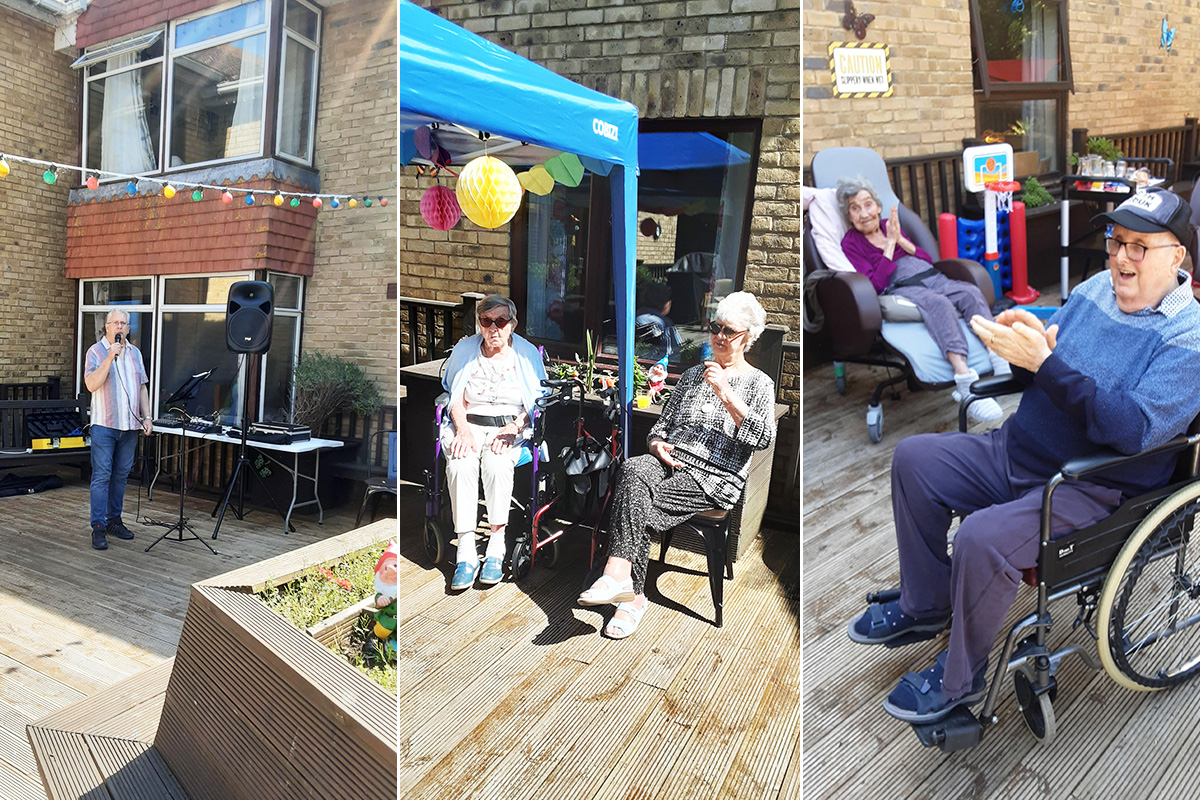 Music in the garden at St Winifreds Care Home
