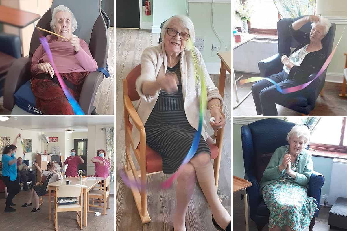 St Winifreds Care Home residents enjoy musical movement and karaoke