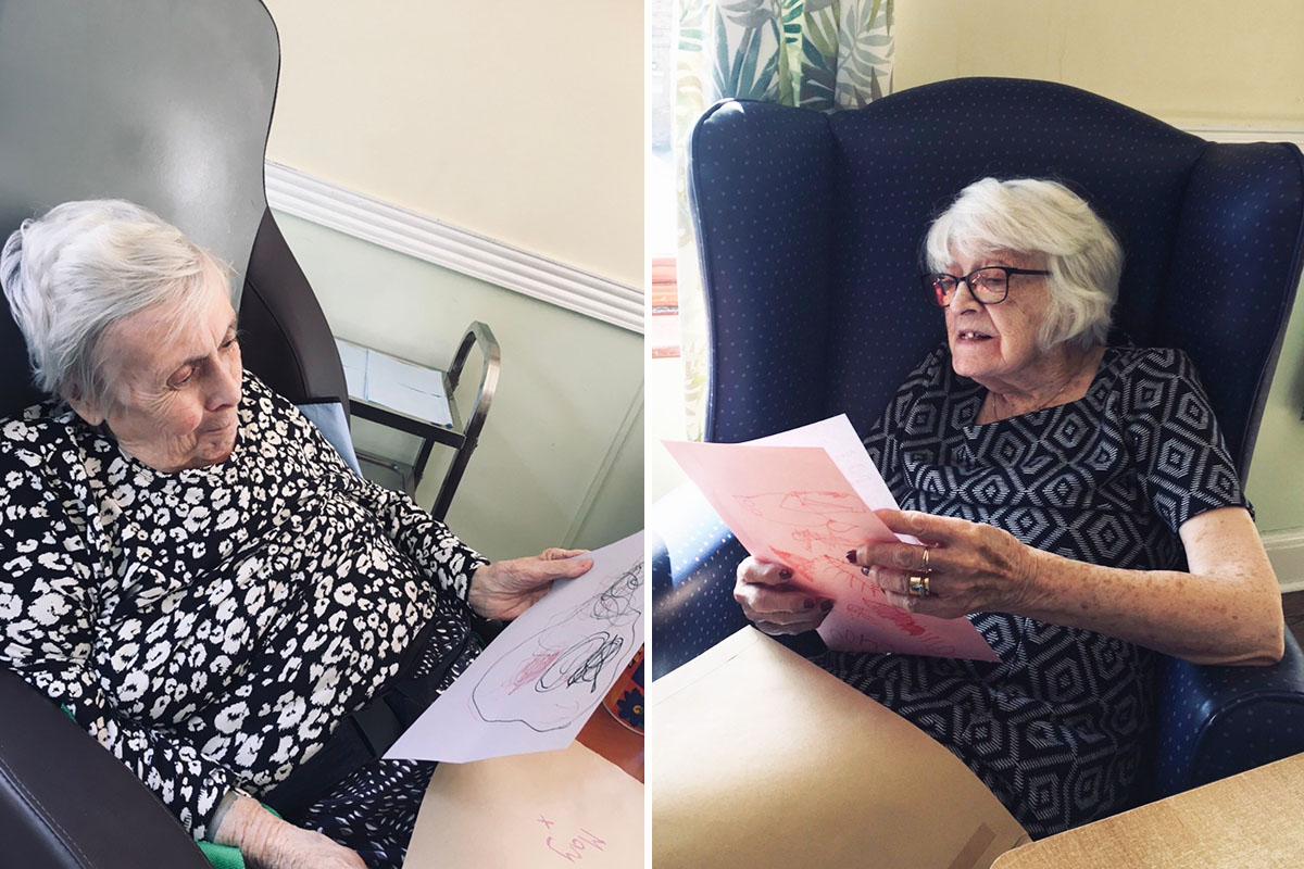 St Winifreds Care Home residents enjoy letters from Bright Sparks penpals