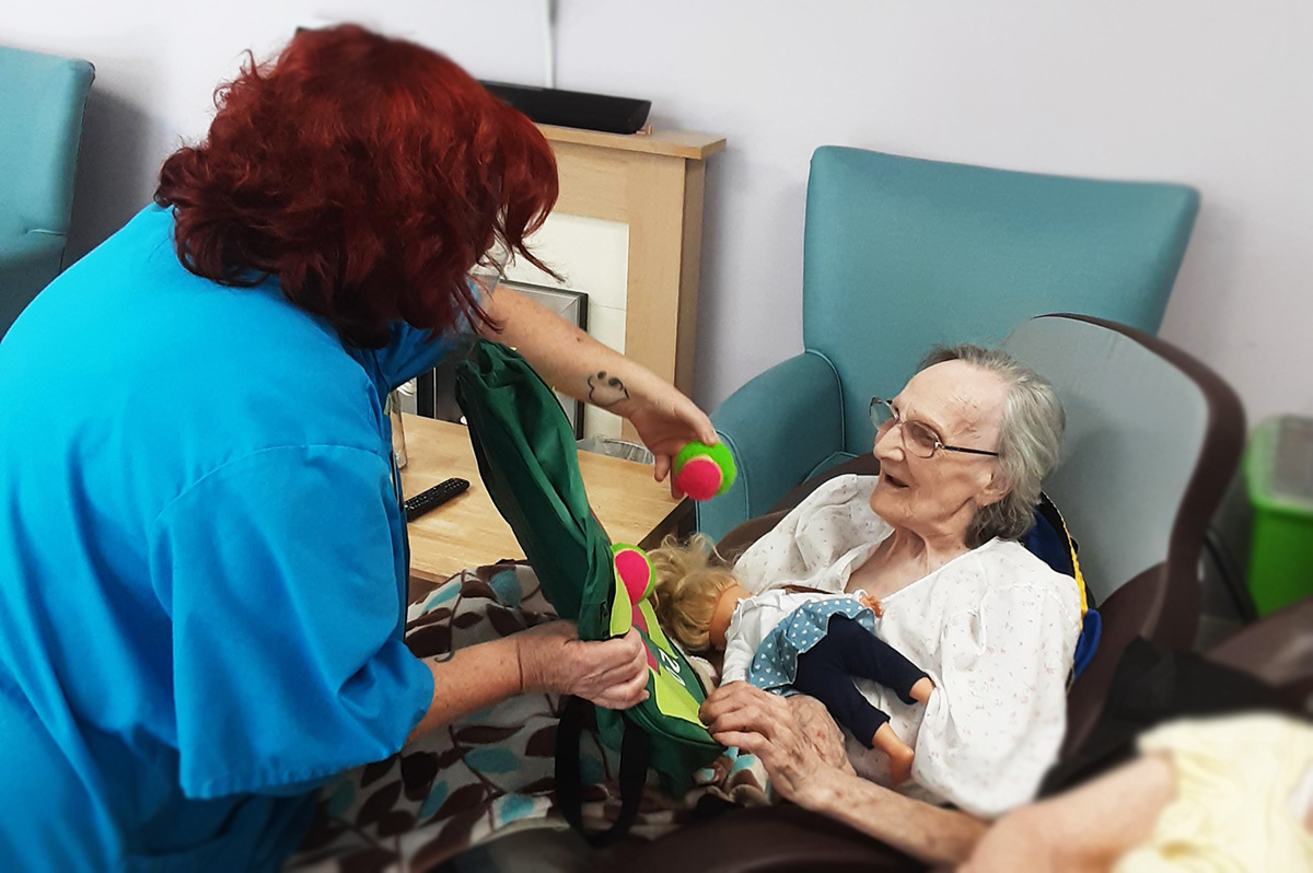 St Winifreds Care Home residents test their target skills